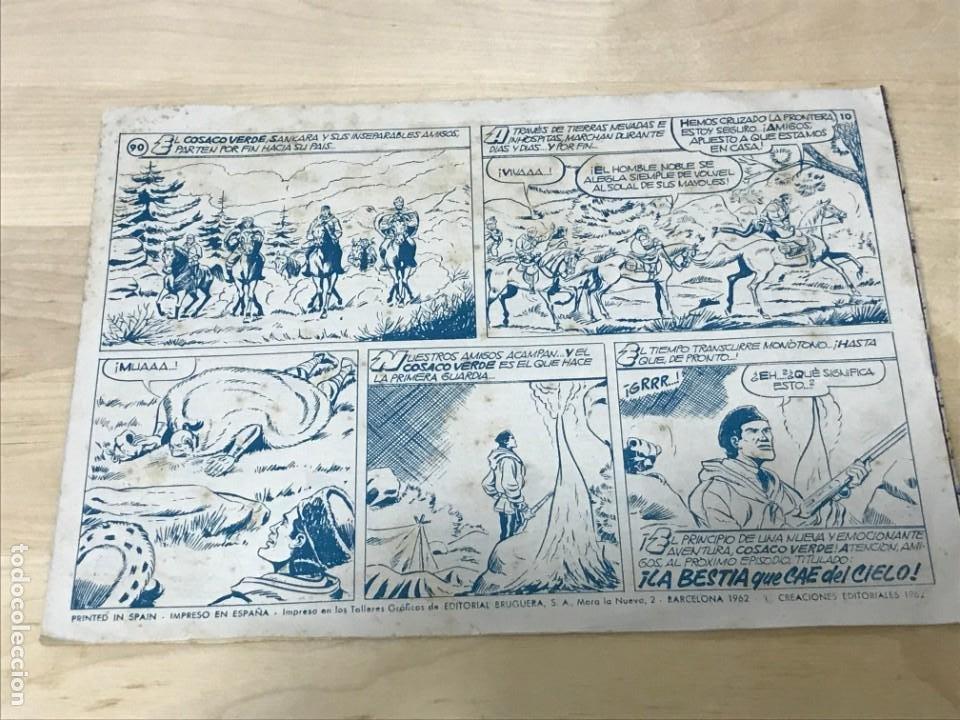 Tebeos: EL COSACO VERDE Nº90 EDICIÓN 1962 EDITORIAL BRUGUERA - Foto 2 - 214557263