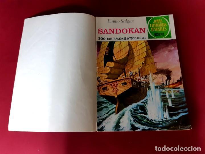 SANDOKAN -EMILIO SALGARI-CON DOBLE PORTADA-CONTRAPORTADA DE ORIGEN (Tebeos y Comics - Bruguera - Joyas Literarias)