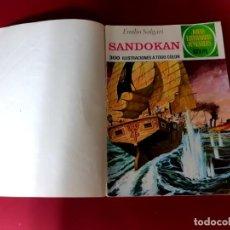 Tebeos: SANDOKAN -EMILIO SALGARI-CON DOBLE PORTADA-CONTRAPORTADA DE ORIGEN. Lote 214564341