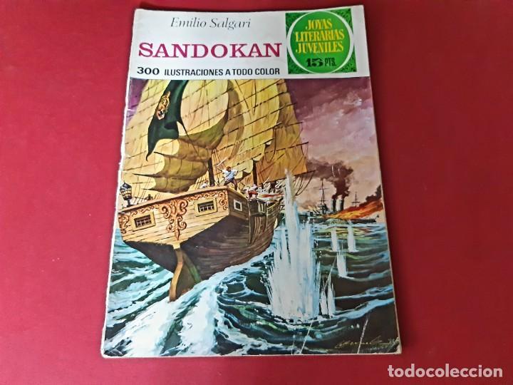 Tebeos: SANDOKAN -EMILIO SALGARI-CON DOBLE PORTADA-CONTRAPORTADA DE ORIGEN - Foto 2 - 214564341