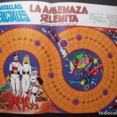 Livros de Banda Desenhada: BATALLAS ESPACIALES, LA AMENAZA SELENITA, OBSEQUIO DE LA REVISTA ZIPI Y ZAPE, TABLERO DE JUEGO. Lote 214780745