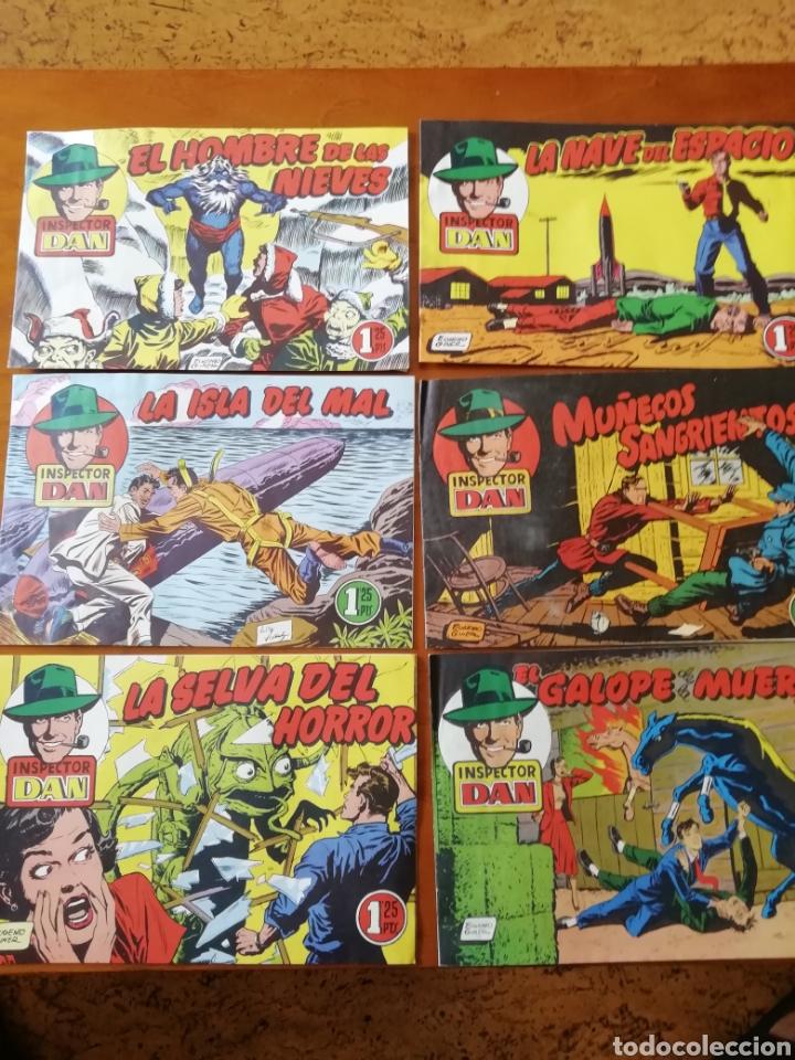 EL INSPECTOR DAN 1952. LOTE DE 6 (Tebeos y Comics - Bruguera - Inspector Dan)