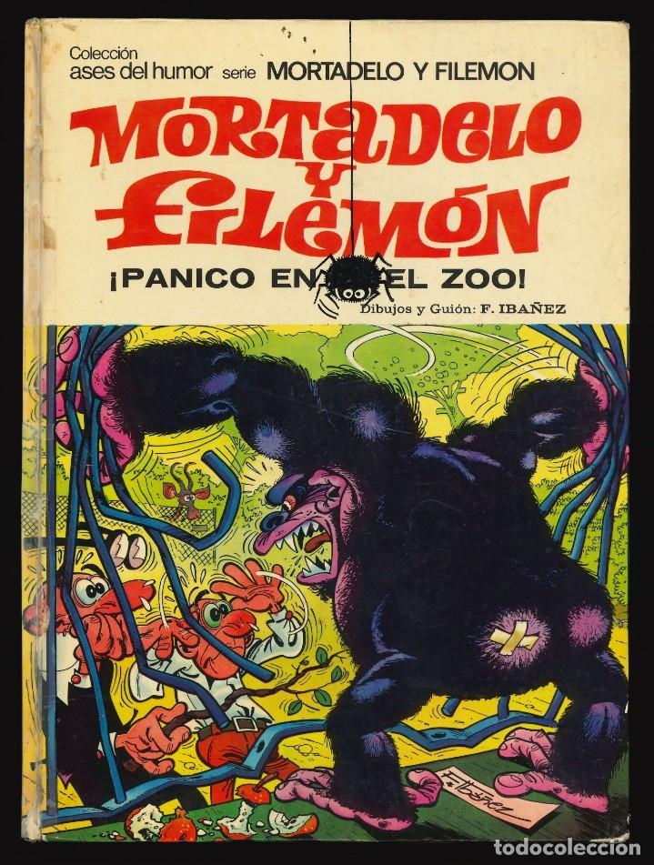 ASES DEL HUMOR - BRUGUERA / NÚMERO 33 (MORTADELO Y FILEMÓN. PÁNICO EN EL ZOO) 1ª EDICIÓN (Tebeos y Comics - Bruguera - Otros)