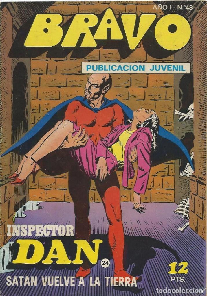 BRAVO Nº 48 BRUGUERA INSPECTOR DAN (Tebeos y Comics - Bruguera - Inspector Dan)
