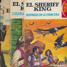 Tebeos: LOTE 4 EPISODIOS. EL SHERIFF KING. DISPAROS EN LA FRONTERA Y TRES MAS. OFERTA 2X1. Lote 215776922