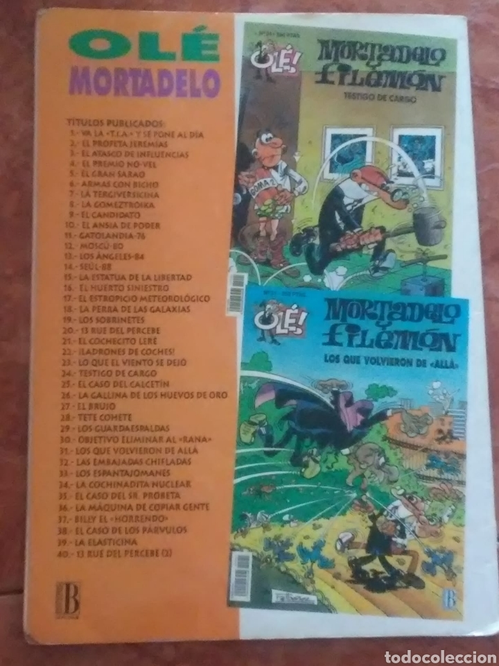 Tebeos: Mortadelo. BILLY EL HORRENDO. NUMERO 37 .350 PTAS - Foto 2 - 215999876