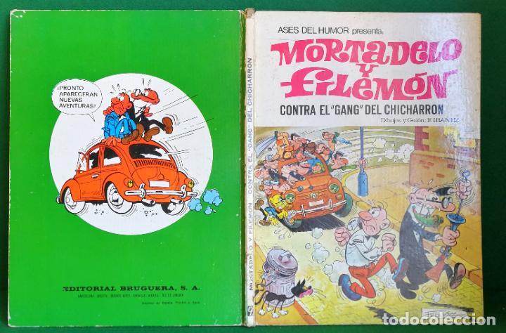 ASES DEL HUMOR BRUGUERA 1ª EDICIÓN - CONTRA EL GANG DEL CHICHARRÓN 1 - VERDE (Tebeos y Comics - Bruguera - Mortadelo)