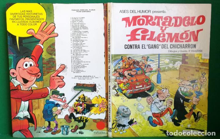 ASES DEL HUMOR Nº 2 - BRUGUERA 2ª EDICIÓN - CONTRA EL GANG DEL CHICHARRÓN (Tebeos y Comics - Bruguera - Mortadelo)