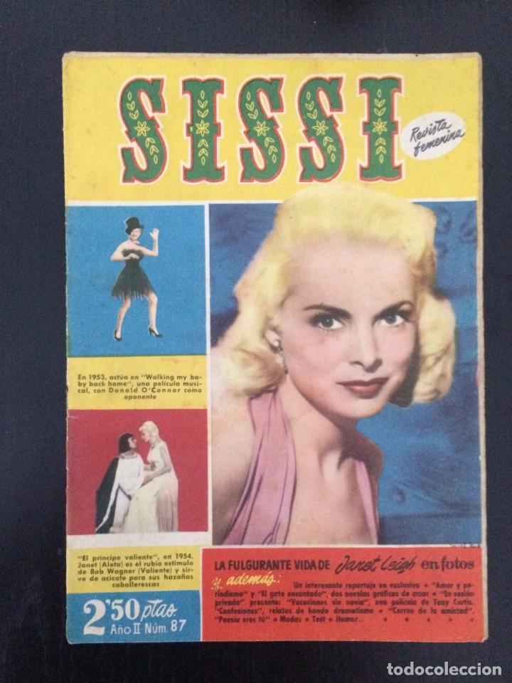 SISSI, REVISTA JUVENIL FEMENINA - AÑO II, Nº 87 - ED. BRUGUERA. JANET LEIGH (Tebeos y Comics - Bruguera - Sissi)