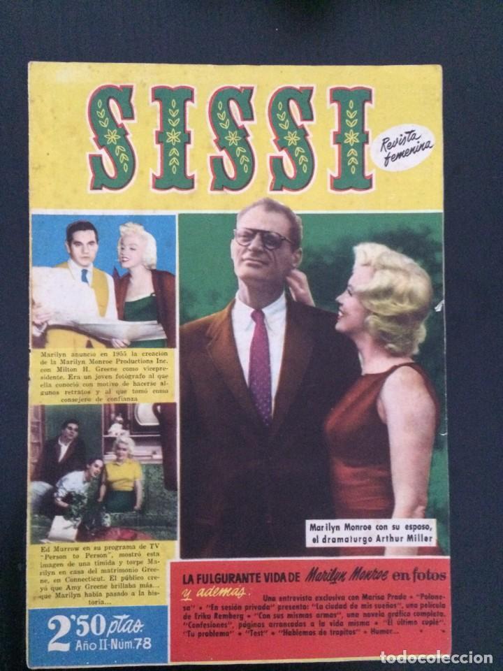 SISSI, REVISTA JUVENIL FEMENINA - AÑO II, Nº 78 - ED. BRUGUERA. MARILYN MONROE (Tebeos y Comics - Bruguera - Sissi)