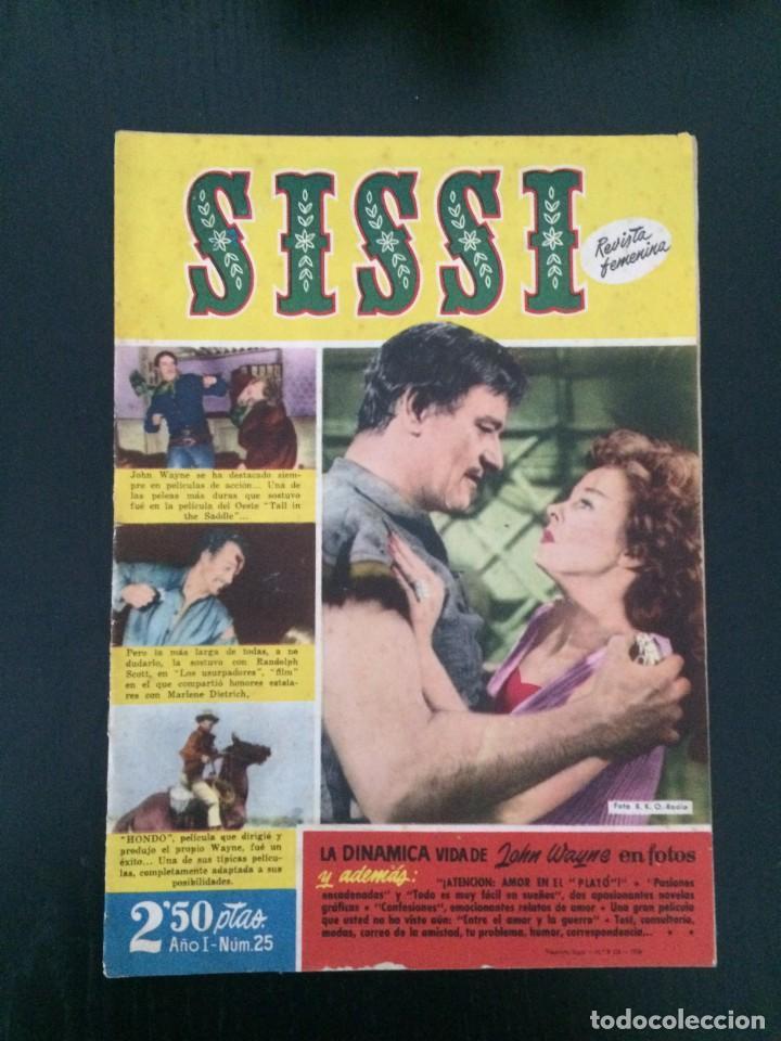 SISSI, REVISTA JUVENIL FEMENINA - AÑO I, Nº 25 - ED. BRUGUERA. JOHN WAYNE (Tebeos y Comics - Bruguera - Sissi)
