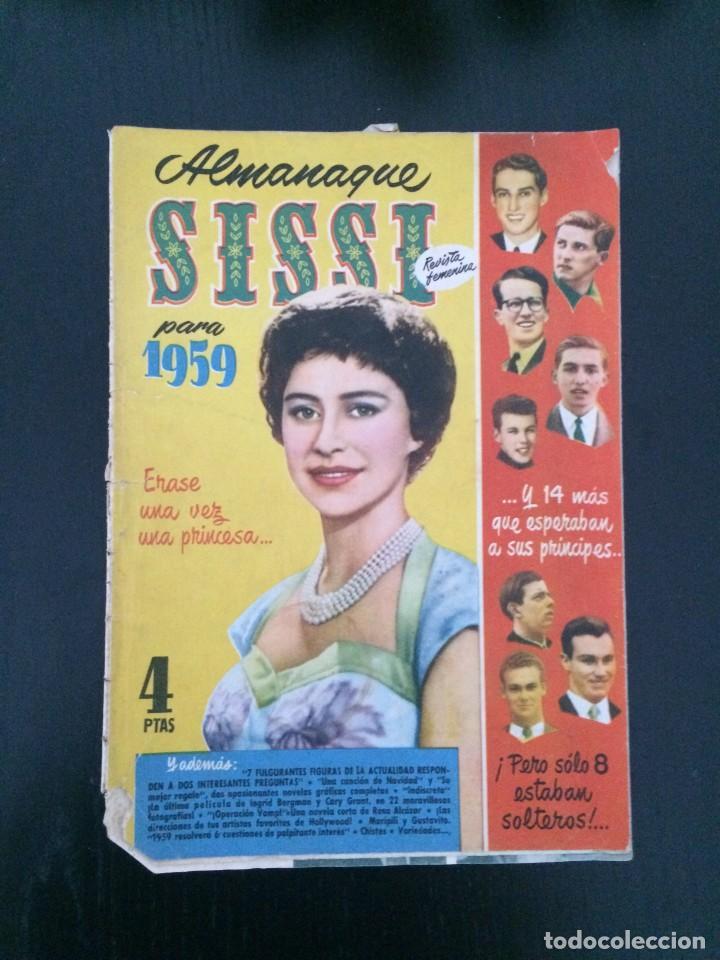 SISSI, REVISTA JUVENIL FEMENINA - ALMANAQUE 1959 - ED. BRUGUERA (Tebeos y Comics - Bruguera - Sissi)
