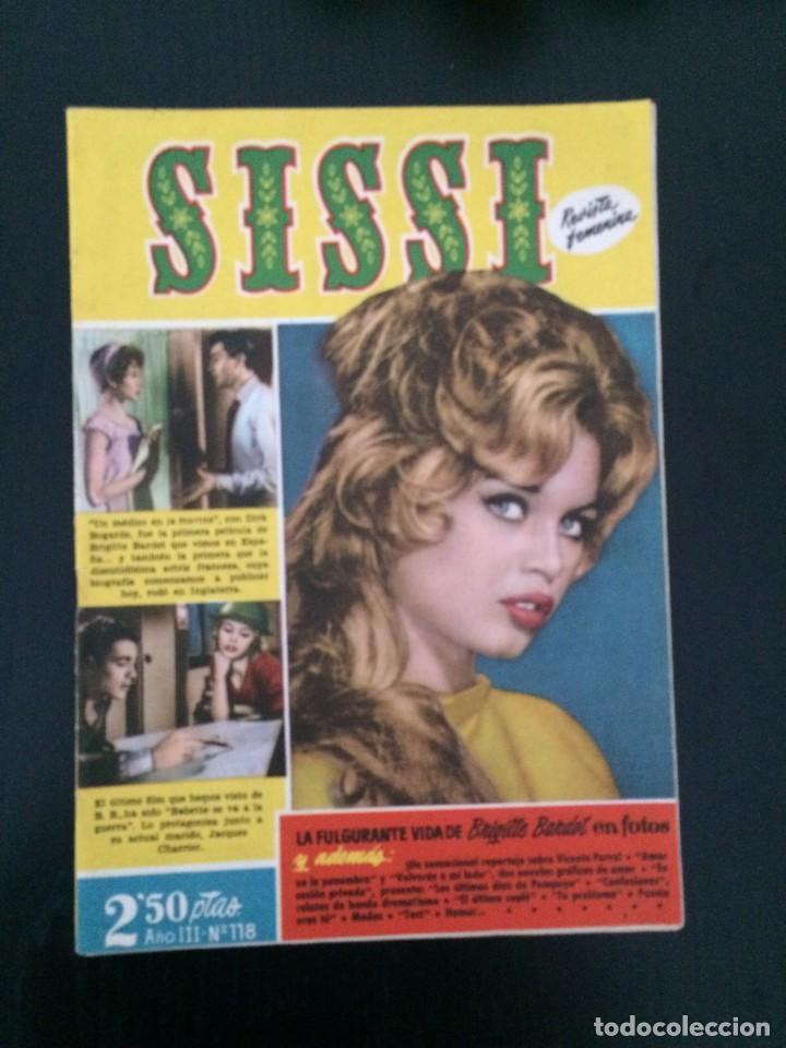 SISSI, REVISTA JUVENIL FEMENINA - AÑO III, Nº 118 - ED. BRUGUERA. BRIGITTE BARDOT (Tebeos y Comics - Bruguera - Sissi)