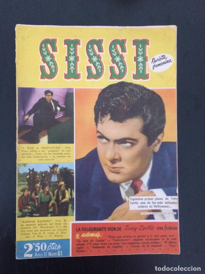 SISSI, REVISTA JUVENIL FEMENINA - AÑO II, Nº 61 - ED. BRUGUERA. TONY CURTIS (Tebeos y Comics - Bruguera - Sissi)