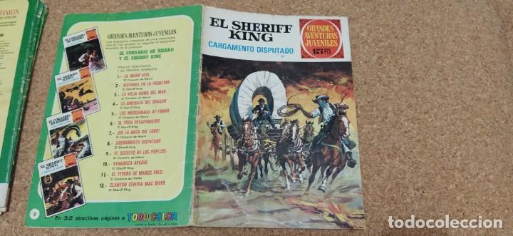 Tebeos: lote 9 números SHERIFF KING - Foto 5 - 216494540