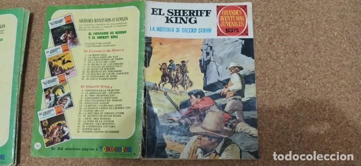 Tebeos: lote 9 números SHERIFF KING - Foto 8 - 216494540
