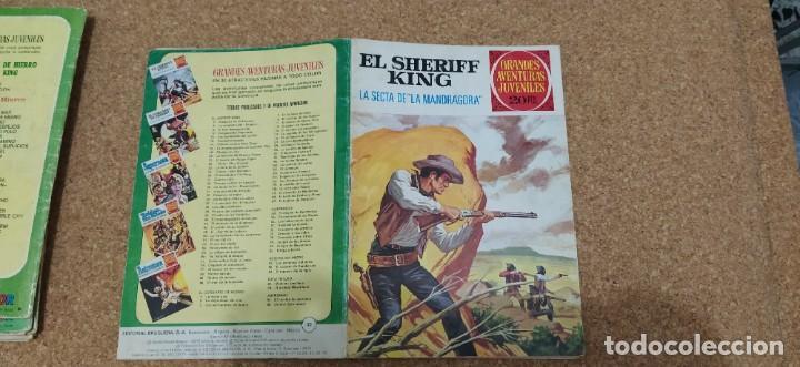 Tebeos: lote 9 números SHERIFF KING - Foto 9 - 216494540