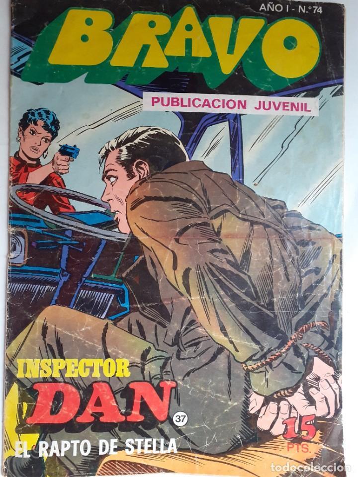 Tebeos: BRAVO- Nº 50 -INSPECTOR DAN- Nº 37 -EL RAPTO DE STELLA-GRAN JULIO VIVAS-1976-BUENO-DIFÍCIL-LEA-3542 - Foto 2 - 216617005