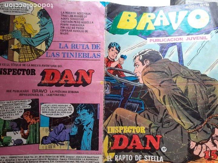 Tebeos: BRAVO- Nº 50 -INSPECTOR DAN- Nº 37 -EL RAPTO DE STELLA-GRAN JULIO VIVAS-1976-BUENO-DIFÍCIL-LEA-3542 - Foto 3 - 216617005