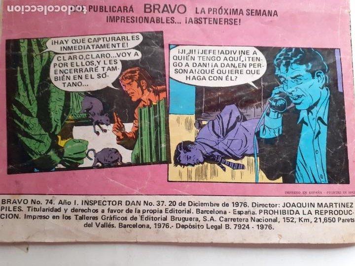 Tebeos: BRAVO- Nº 50 -INSPECTOR DAN- Nº 37 -EL RAPTO DE STELLA-GRAN JULIO VIVAS-1976-BUENO-DIFÍCIL-LEA-3542 - Foto 6 - 216617005