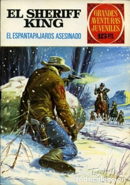 SHERIFF KING-GRANDES AVENTURAS JUVENILES- Nº 40 -EL ESPANTAPÁJAROS ASESINADO-1973-BUENO-DIFÍCIL-3548 (Tebeos y Comics - Bruguera - Sheriff King)