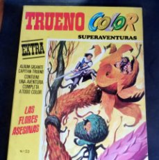 Tebeos: TRUENO COLOR SUPER AVENTURAS Nº 53 - 1ª EPOCA - LAS FLORES ASESINAS. Lote 216816283