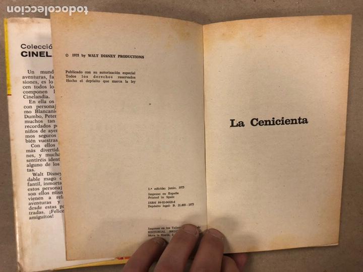 Tebeos: LA CENICIENTA (WALT DISNEY). COLECCIÓN CINELANDIA N° 16 BRUGUERA 1975 (1ª EDICIÓN). - Foto 4 - 216982003