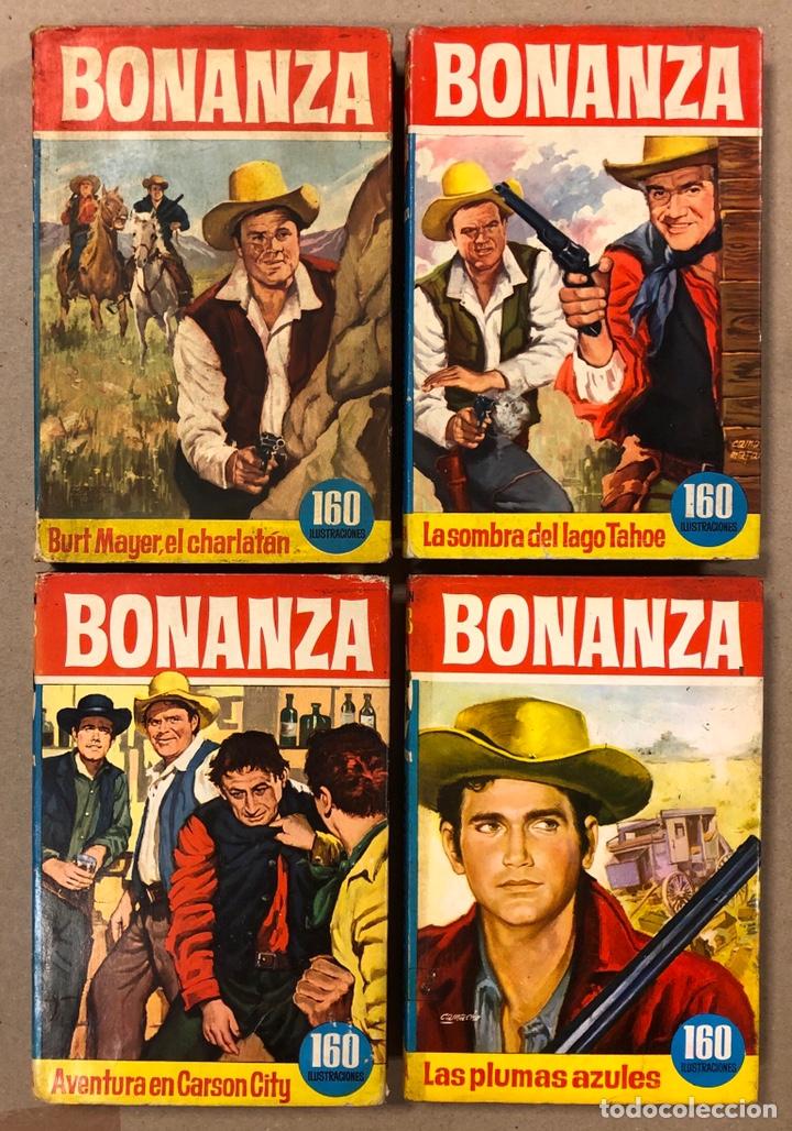 BONANZA. LOTE DE 4 NÚMEROS COLECCIÓN HÉROES EDITORIAL BRUGUERA. N° 16, 19, 24 Y 42. (Tebeos y Comics - Bruguera - Historias Selección)