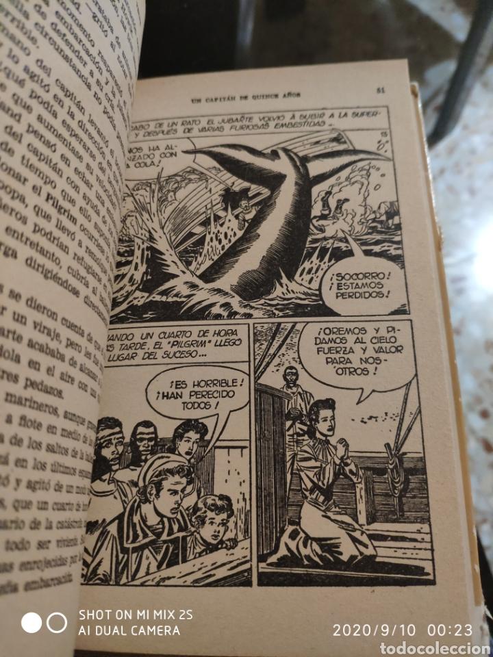 Tebeos: COLECCIÓN HISTORIAS SELECCIÓN N° 6: UN CAPITÁN DE QUINCE AÑOS (JULIO VERNE) (BRUGUERA) - Foto 2 - 217292005