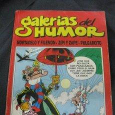 Tebeos: GALERIAS DEL HUMOR Nº 9. RETAPADO CON MORTADELO Nº 46. ZIPIZAPE Nº 56,57. PULGARCITO 20 Y 21.. Lote 217331871