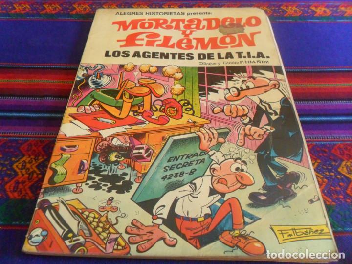 Tebeos: ALEGRES HISTORIETAS 5 MORTADELO, CONTRABANDO. BRUGUERA 1ª ED. 1983. REGALO 3 LOS AGENTES DE LA TIA. - Foto 2 - 58298736