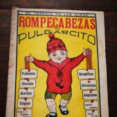 Livros de Banda Desenhada: ROMPECABEZAS DE PULGARCITO (EL INGENIO DE LOS NIÑOS)- CUADERNO 1°,1932. RARO!!!.. Lote 217779247