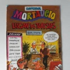 Tebeos: MORTADELO 180 - ESPECIAL LLEGAN LOS TURISTAS - CON AVENTURA DE RIC HOCHET. Lote 217966608