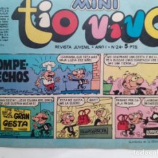 Tebeos: MINI TÍO VIVO- Nº 24 -ÚLTIMO COLEC.-IBÁÑEZ-RAF-GALILEO(RAFA RAMOS)-ESCOBAR-1975-BUENO-DIFÍCIL-3730. Lote 218037853