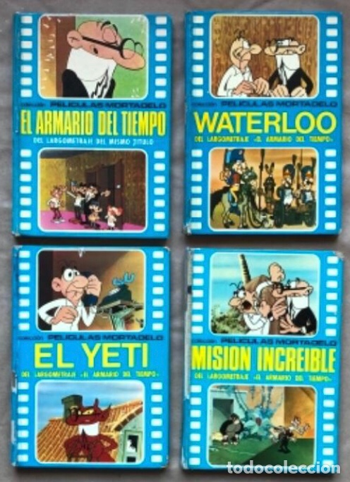COLECCIÓN PELÍCULAS DE MORTADELO. LOTE CON 4 PRIMEROS NÚMEROS. EDITORIAL BRUGUERA 1973 (1ªEDICIÓN). (Tebeos y Comics - Bruguera - Mortadelo)