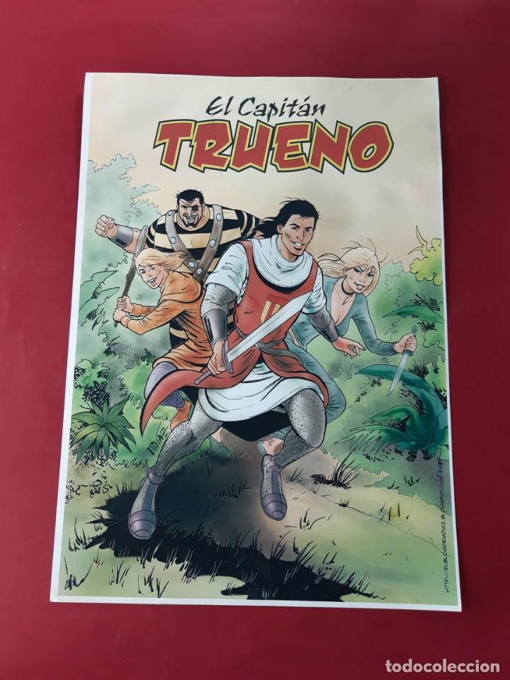 POSTER EL CAPITAN TRUENO ASOC.DE AMIGOS CAPITAN TRUENO MEDIDAS 42X30 (Tebeos y Comics - Bruguera - Capitán Trueno)