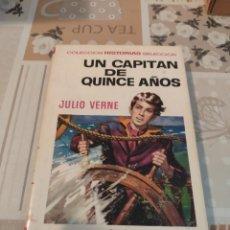 Tebeos: COLECCIÓN HISTORIAS SELECCIÓN N° 6: UN CAPITÁN DE QUINCE AÑOS (JULIO VERNE) (BRUGUERA). Lote 218272420