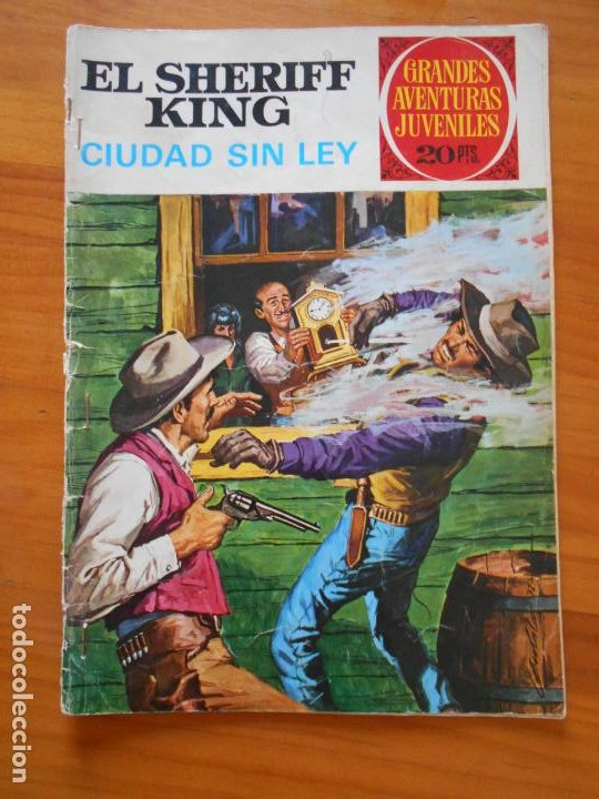 GRANDES AVENTURAS JUVENILES Nº 18 - EL SHERIFF KING - CIUDAD SIN LEY (S) (Tebeos y Comics - Bruguera - Sheriff King)