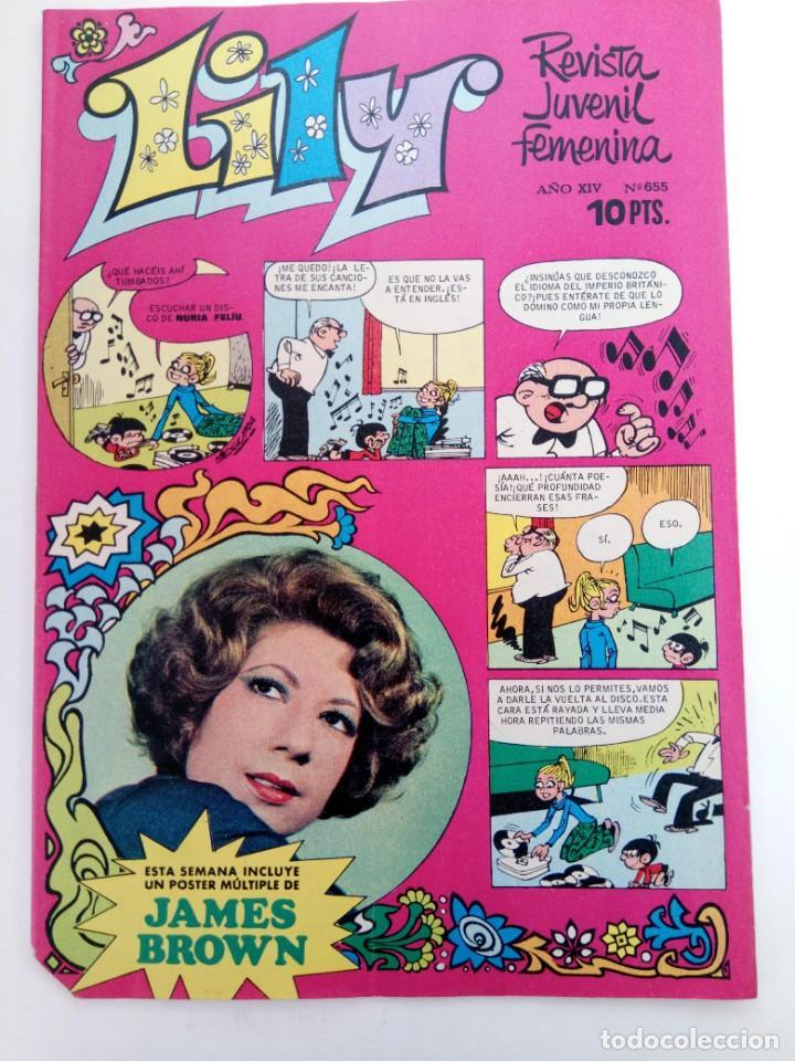 LILY Nº 655 (SIN USAR, DE DISTRIBUIDORA) (Tebeos y Comics - Bruguera - Lily)