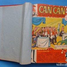 Tebeos: CAN CAN, REVISTA DE LAS BURBUJAS, BRUGUERA - 1 TOMO - 36 NUMEROS, DEL 0 AL 35 - AÑO 1958. Lote 219087715