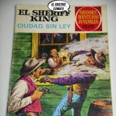 BDs: EL SHERIFF KING, Nº 18, CIUDAD SIN LEY, ED. BRUGUERA, AÑO 1975, 6D. Lote 219093473