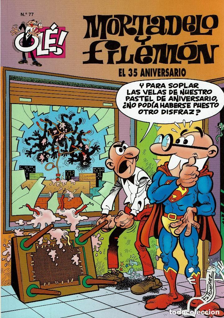 MORTADELO Y FILEMÓN Nº 77. EL 35 ANIVERSARIO (Tebeos y Comics - Bruguera - Mortadelo)