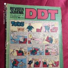 Tebeos: DDT. Nº 44. CON CROMOS FUTBOL. EDITORIAL BRUGUERA. Lote 219135395