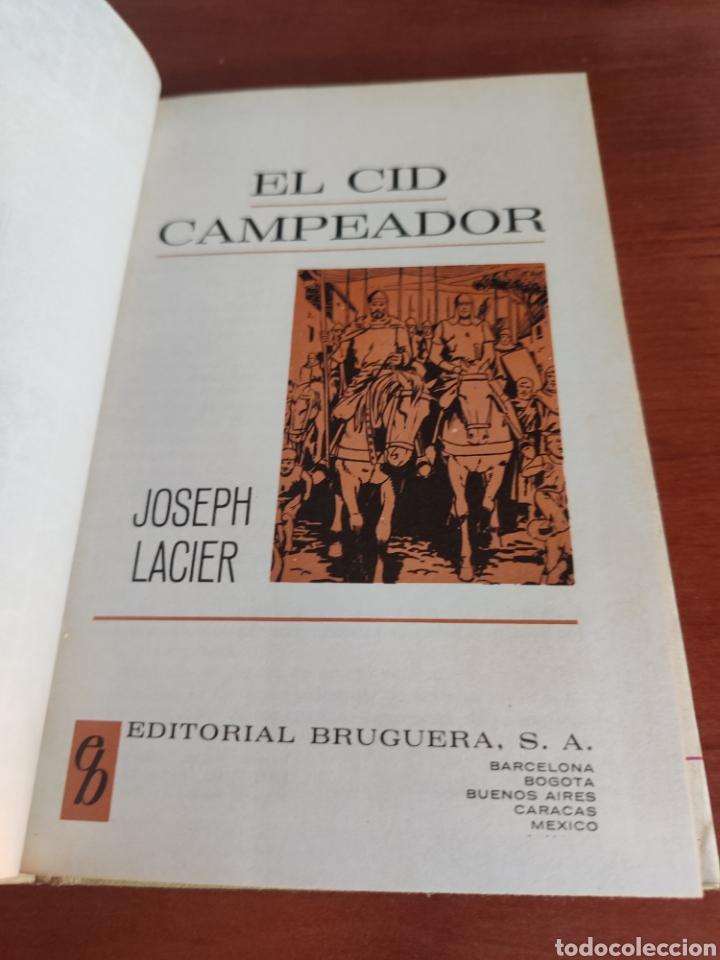 Tebeos: El cid Campeador joseph lacier colección historias selección bruguera número 25 - Foto 3 - 219191346