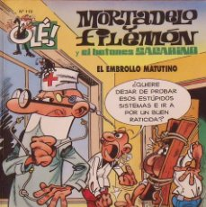 Tebeos: MORTADELO Y FILEMÓN. EL EMBROLLO MATUTINO. OLÉ. Nº 110. BUEN ESTADO. 2011. 6A EDICIÓN.. Lote 219193601