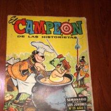 Tebeos: EL CAMPEÓN DE LAS HISTORIETAS N° 23 CON EL JABATO. Lote 219209631