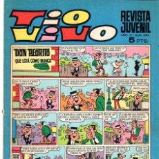 Tebeos: TIO VIVO***EDITORIAL BRUGUERA AÑO XI DEL 26 AGOSTO 1968**NÚMERO 390-EPOCA 2ª. Lote 34561020