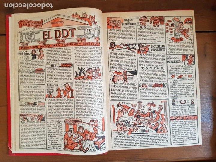 Tebeos: LOTE 9 TEBEOS/CÓMIC TOMO ORIGINAL DDT ALMANAQUE 1955 (1) PULGARCITO 1955 BRUGUERA 1207-1212 TRUENO - Foto 5 - 219585306