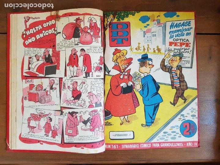 Tebeos: LOTE 9 TEBEOS/CÓMIC TOMO ORIGINAL DDT ALMANAQUE 1955 (1) PULGARCITO 1955 BRUGUERA 1207-1212 TRUENO - Foto 6 - 219585306