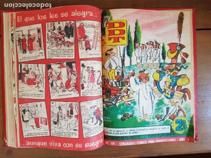 Tebeos: LOTE 9 TEBEOS/CÓMIC TOMO ORIGINAL DDT ALMANAQUE 1955 (1) PULGARCITO 1955 BRUGUERA 1207-1212 TRUENO - Foto 11 - 219585306
